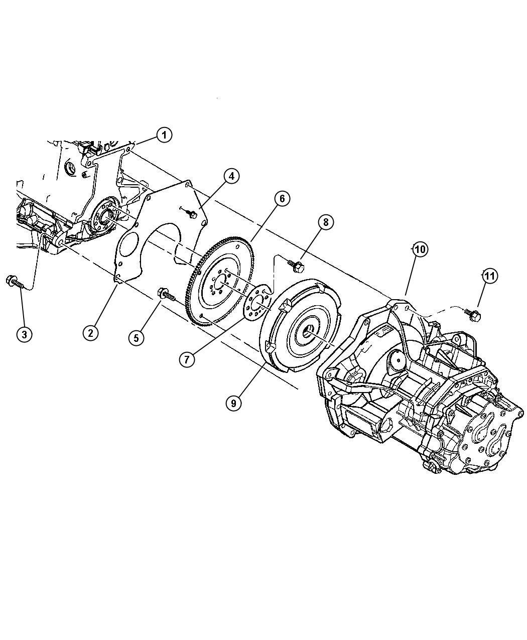 Dodge Neon Cover. Transaxle rear. Chain / gear