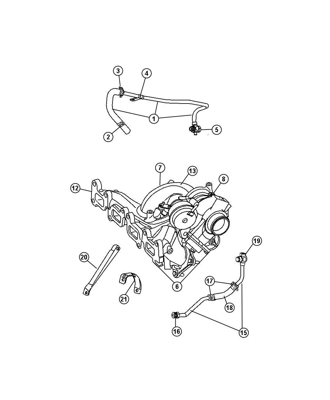 Chrysler Aspen Turbocharger See Reference Edj