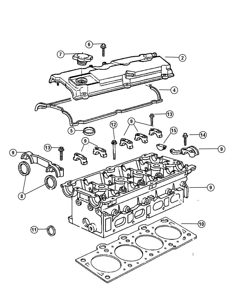 2001 Chrysler Voyager Gasket. Cylinder head cover, valve