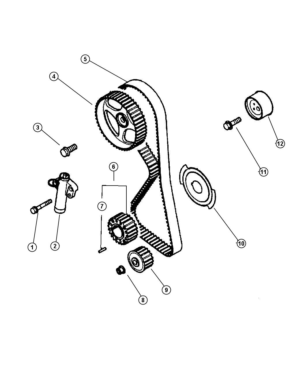Chrysler Sebring Bolt M10x35 Timing Belt