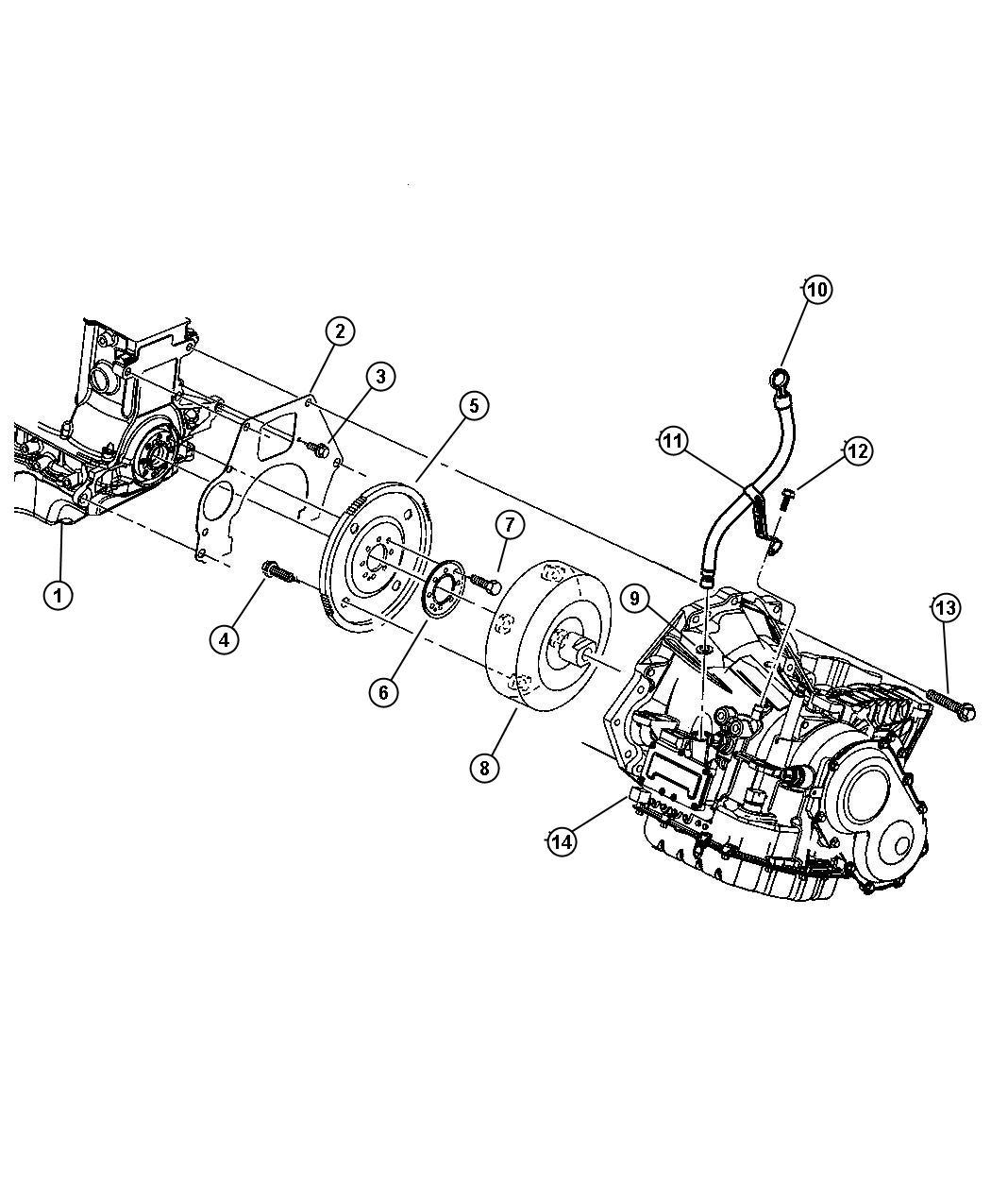 Dodge Caravan Cover Transmission Dust Upper