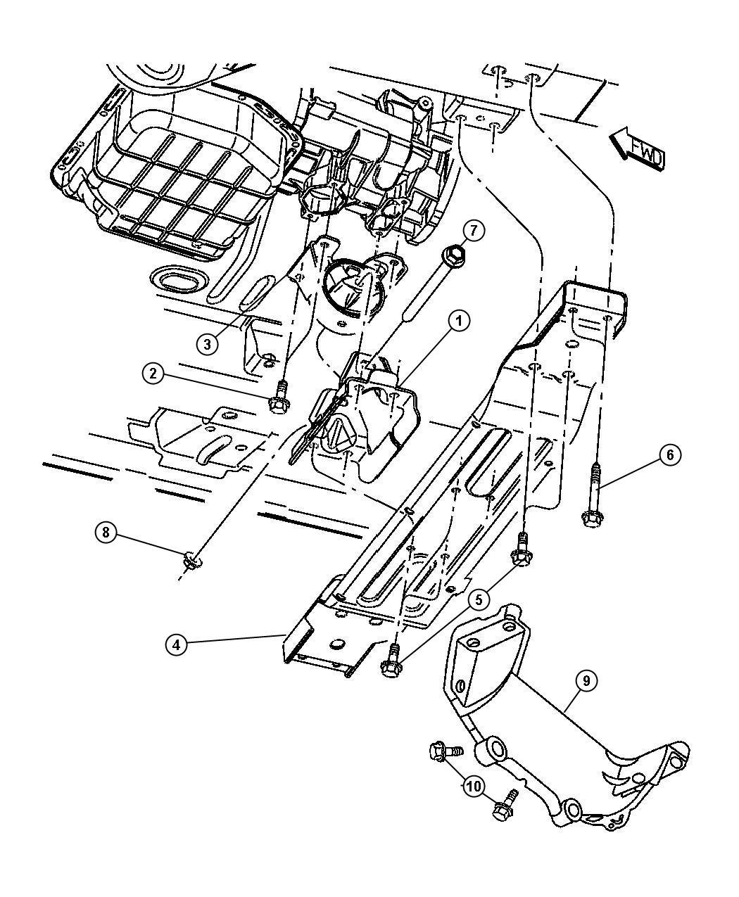 Chrysler Sebring Mount Transmission Engine Mounting