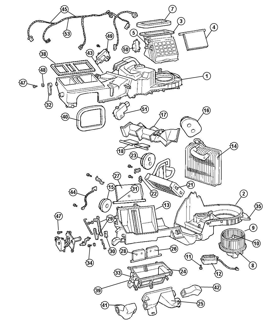 Jeep Wrangler Lever A C Recirculation Door Air