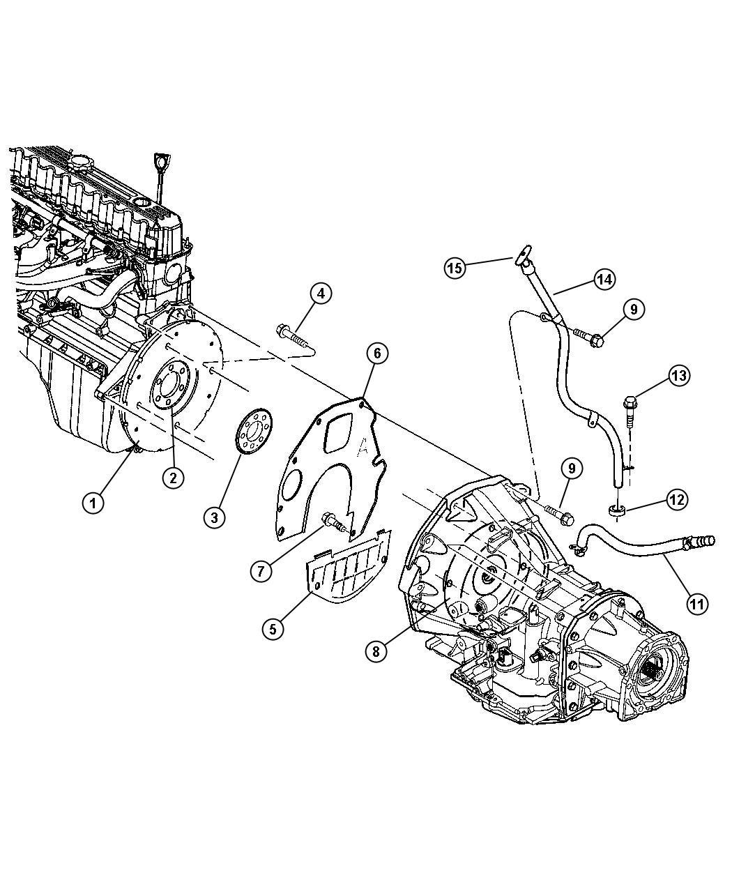Jeep Wrangler Plate Drive Plate Converter Crankshaft