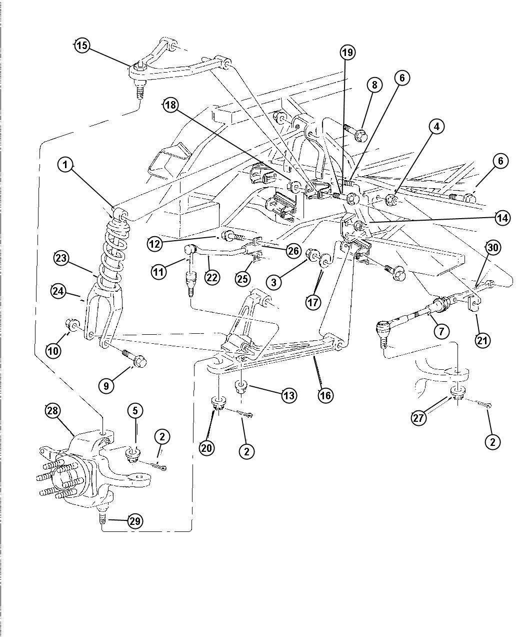 Dodge Viper Rod Toe Link Suspension Rear Mopar