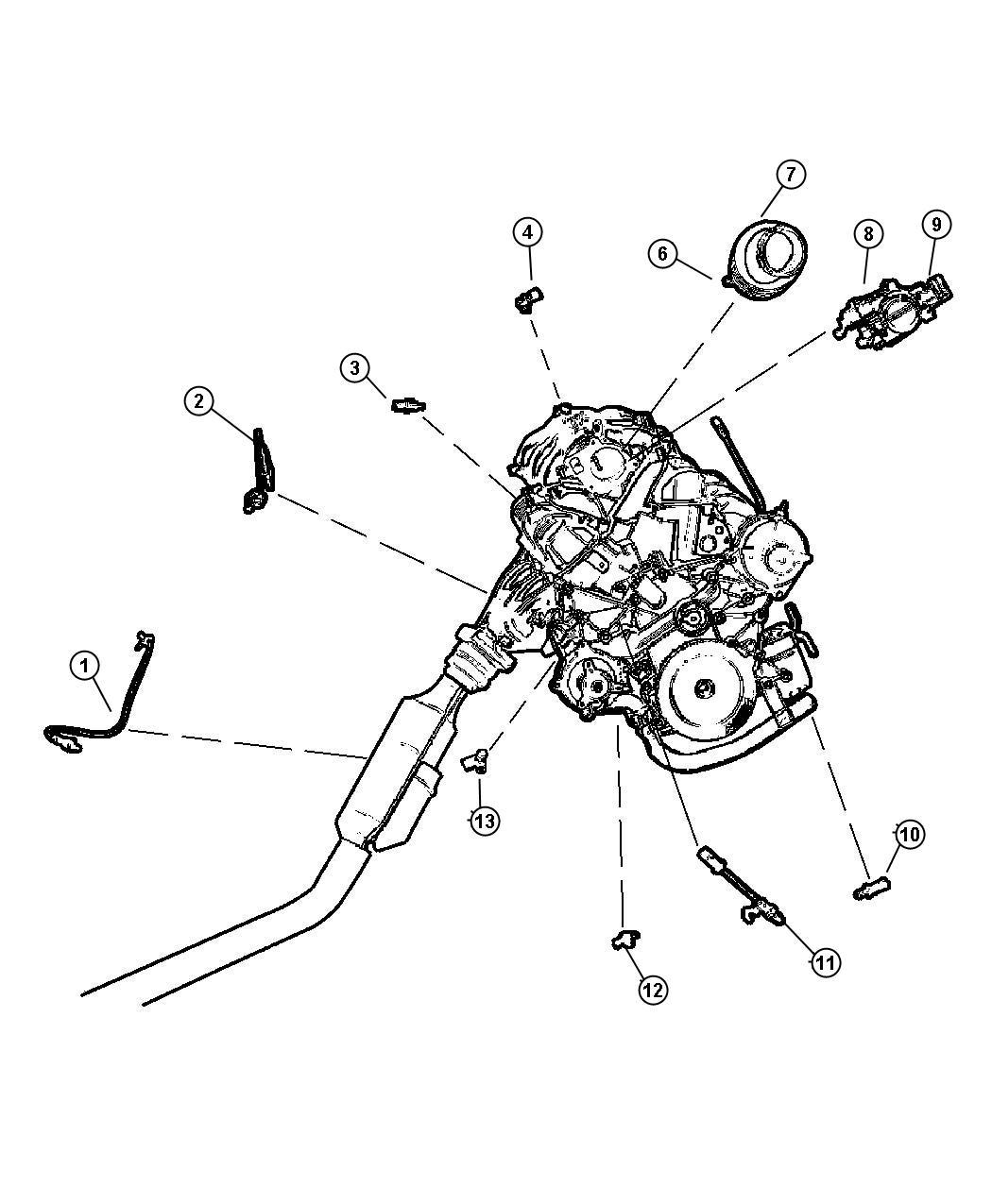 Dodge Ram Sensor Oxygen Upstream Sensors