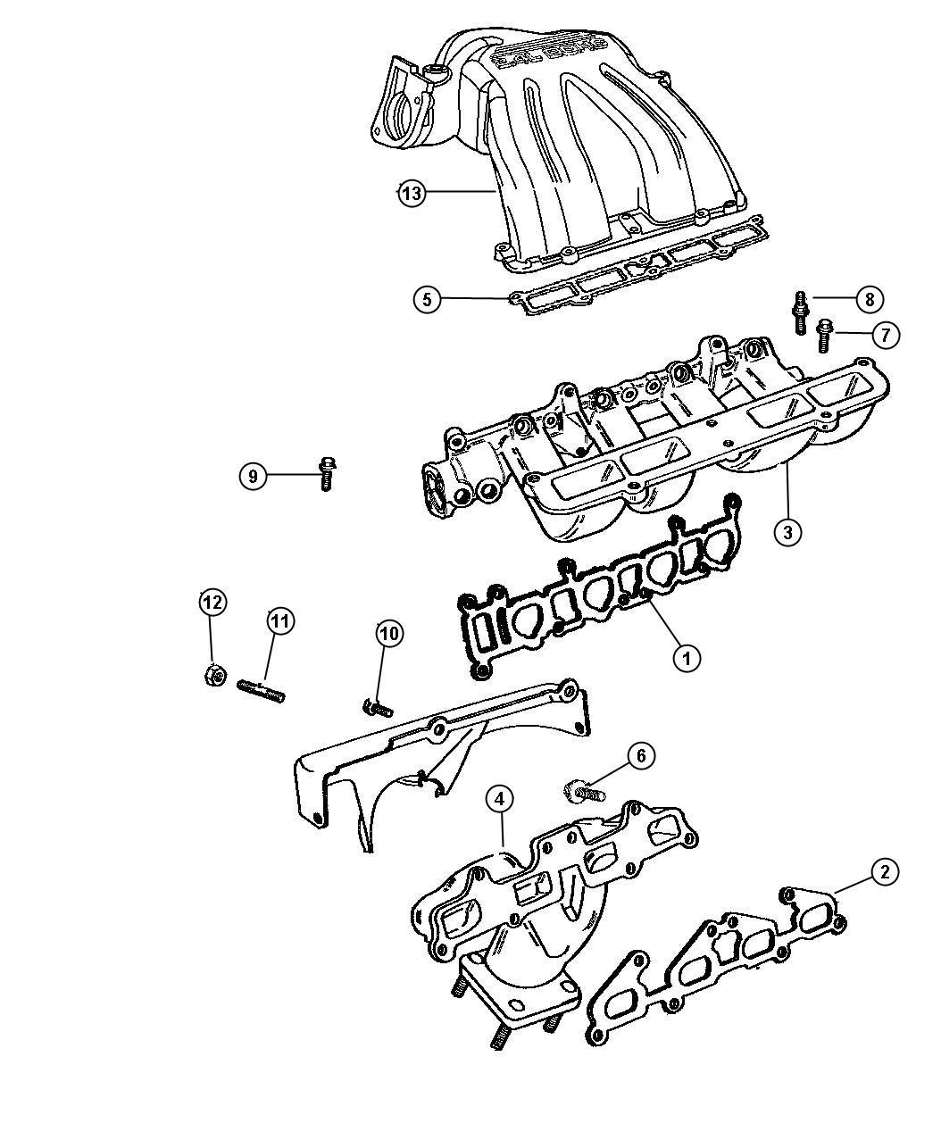 Dodge Ram Gasket Intake Manifold Pintake