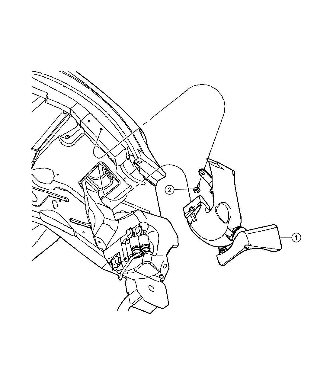 2011 Dodge NITRO Duct. Fresh air. Instrument, fuel, panel