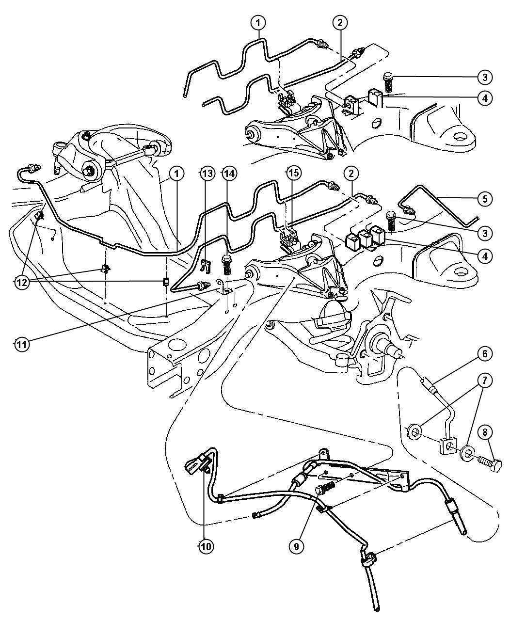 Dodge Dakota Line Brake Anti Brakes Lock
