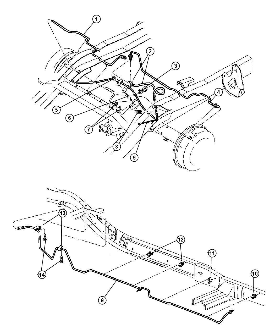 Dodge Dakota Tube Brake Right Corporate 8 25