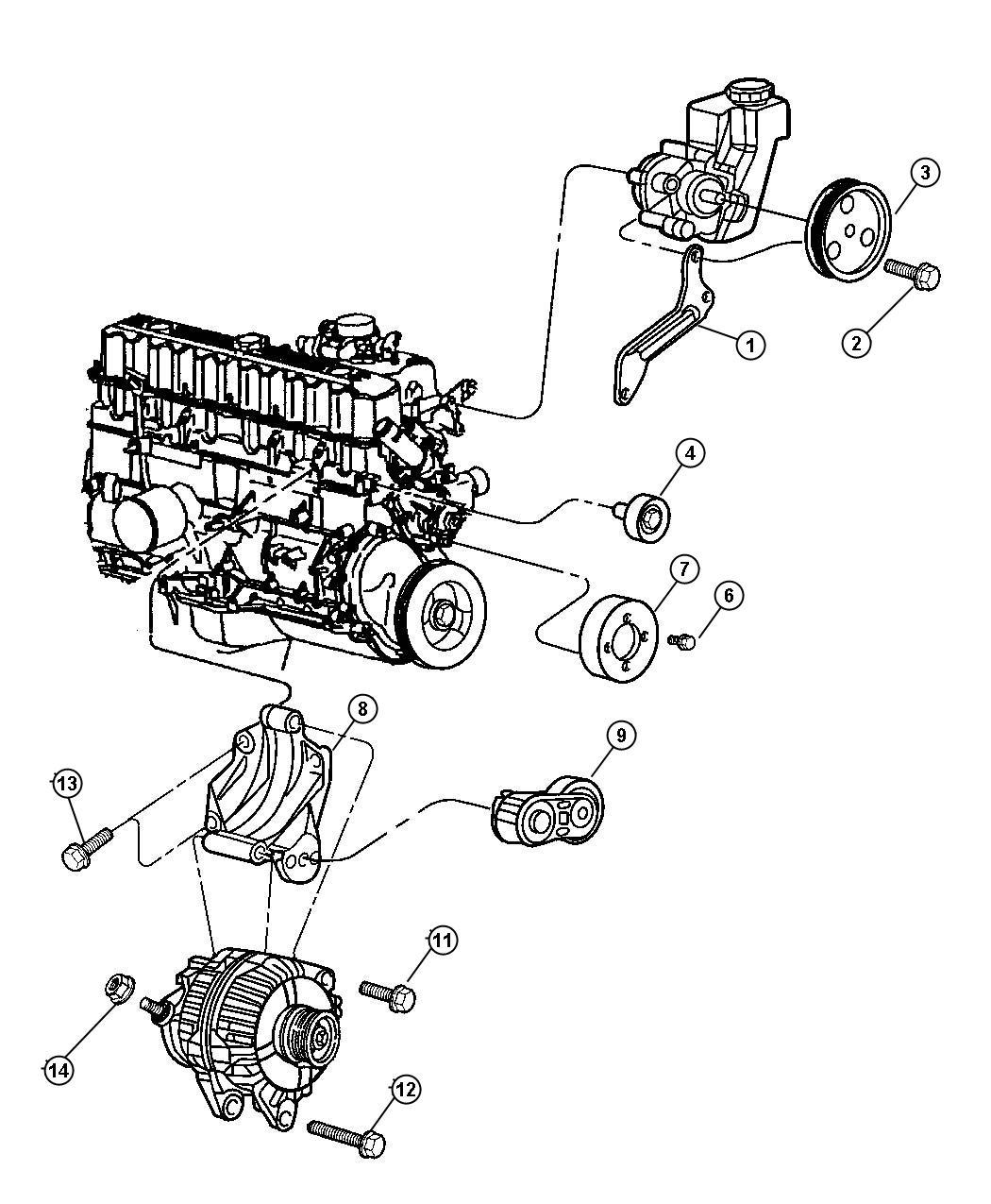Dodge Caliber Tensioner Belt