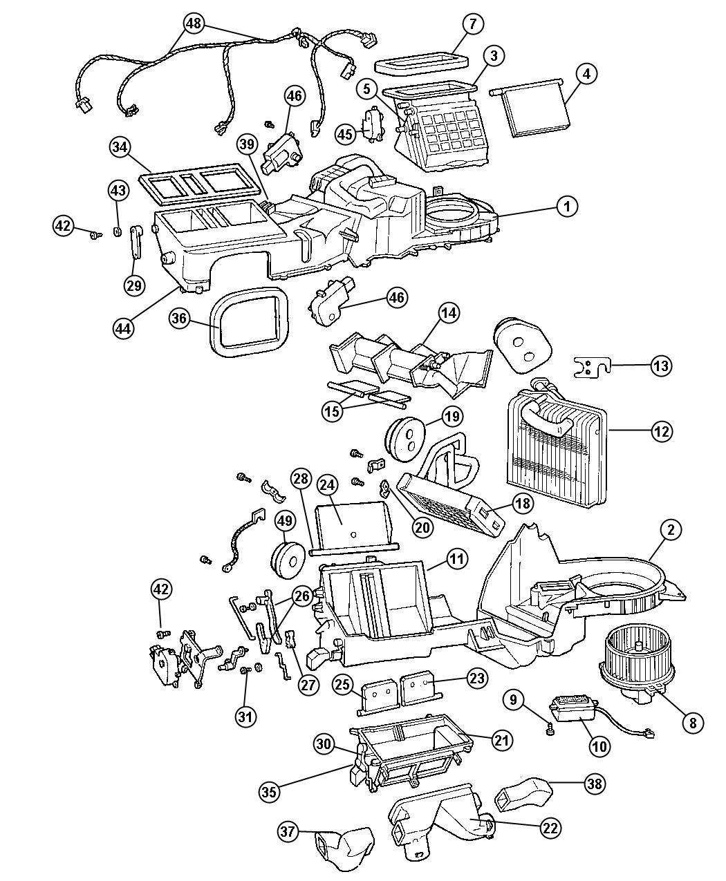 2010 Jeep Wrangler Lever. A/c recirculation door. Air