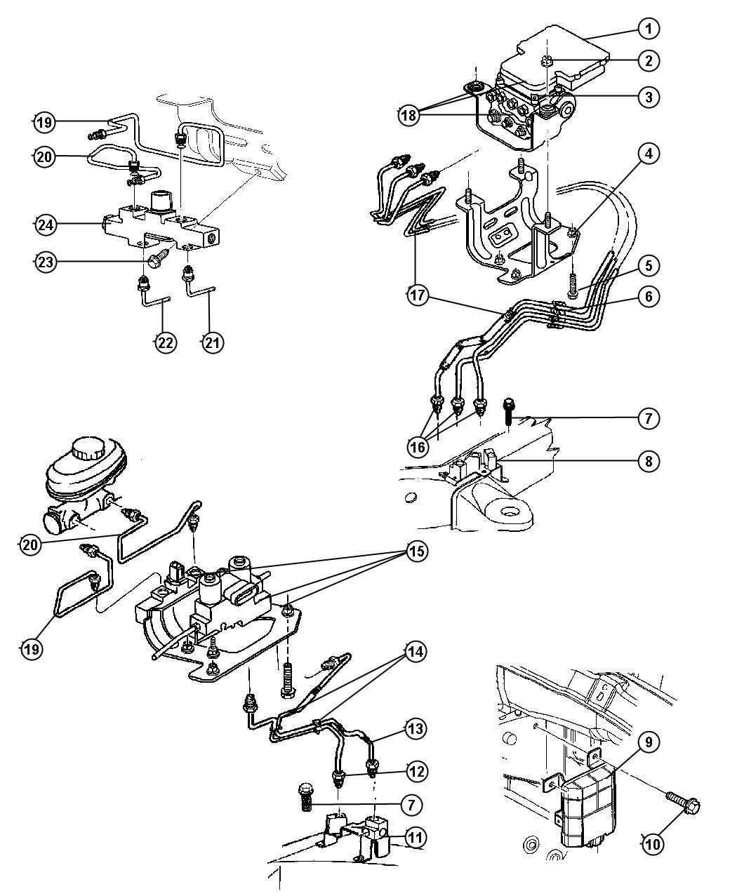Dodge Ram 1500 Module. Anti-lock brakes. [4-wheel anti
