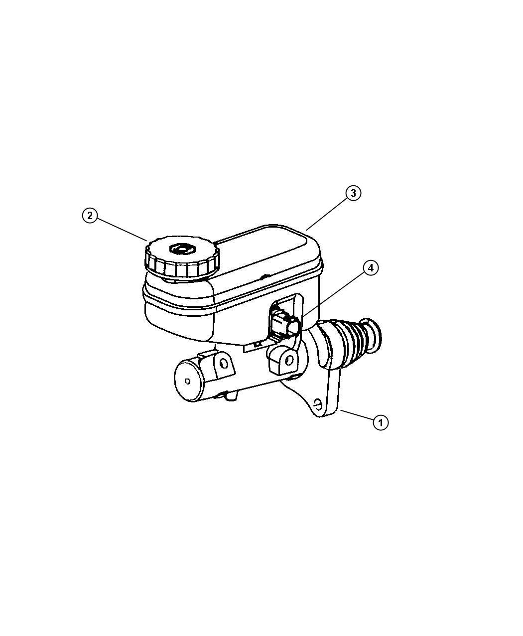 Chrysler Sebring Master Cylinder Brake Brakes