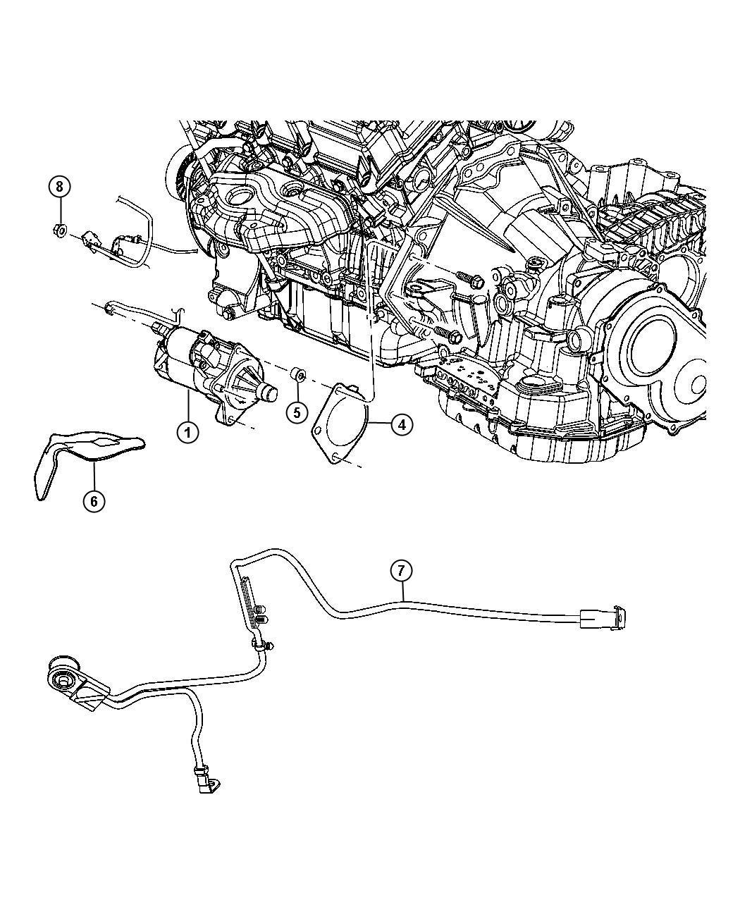 2004 Chrysler Sebring Starter. Engine. Remanufactured