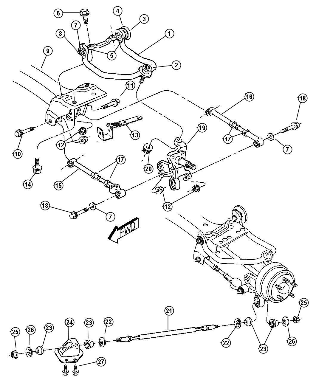 Chrysler Sebring Link Rear Toe