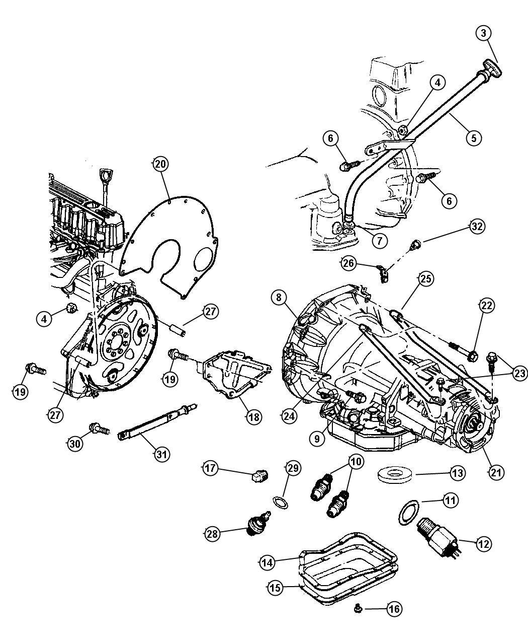 Jeep Liberty Sport Indicator Transmission Fluid