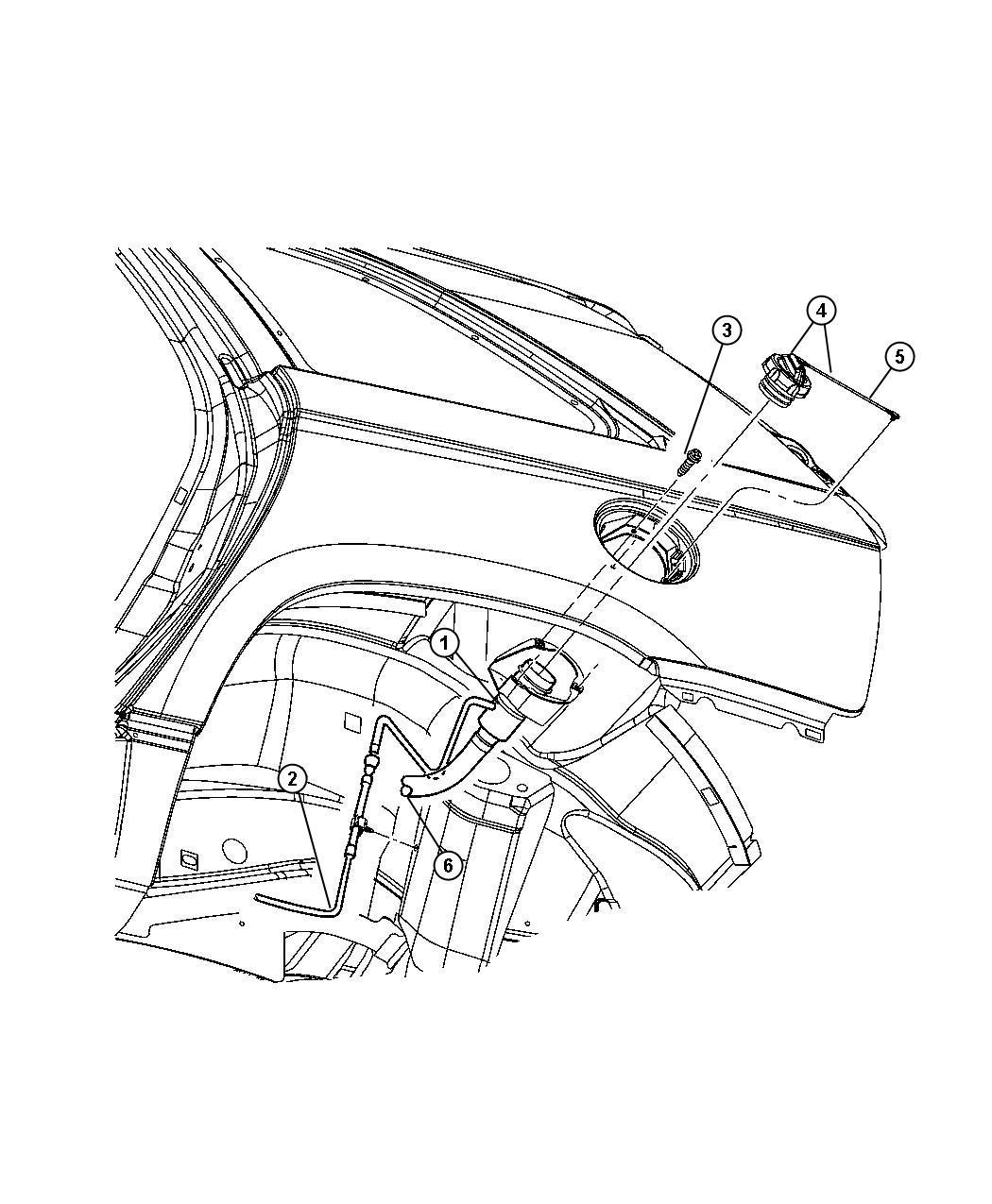 2008 Chrysler Pacifica Tube. Fuel filler. Tank, related