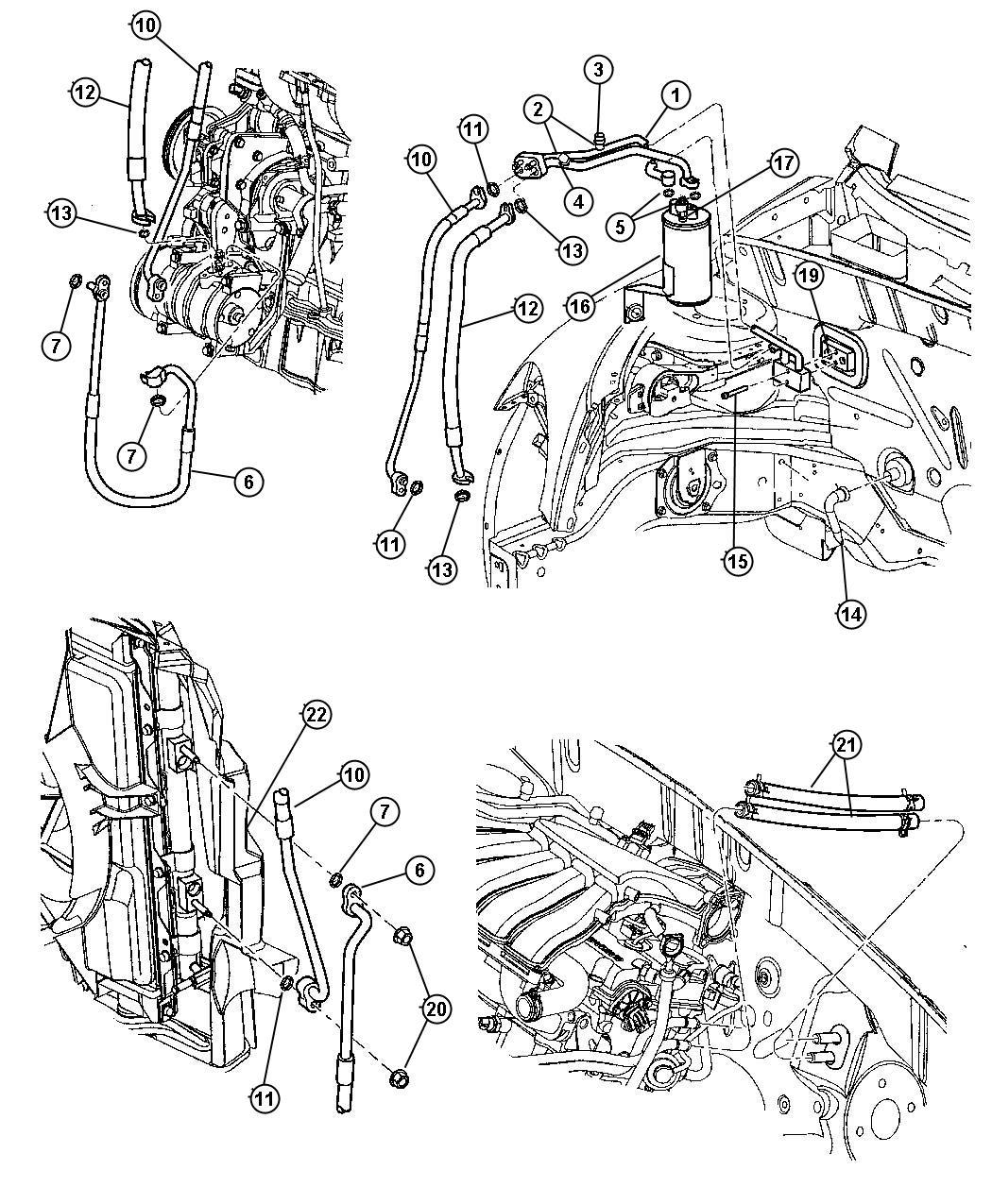 Chrysler Pt Cruiser Tube Drain Evaporator Tube A