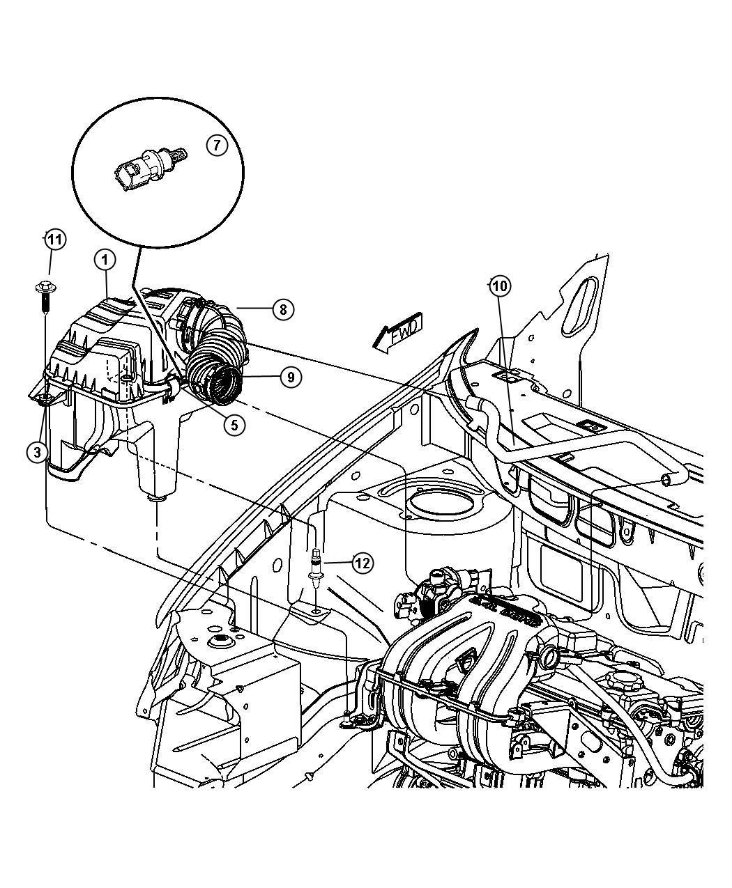 Dodge Caravan Element, filter. Air, air cleaner. Engine