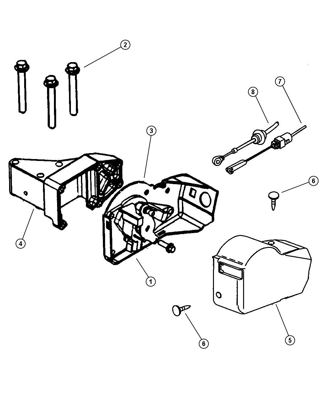 Dodge Ram 2500 Cable. Accelerator. Controls, throttle, fca