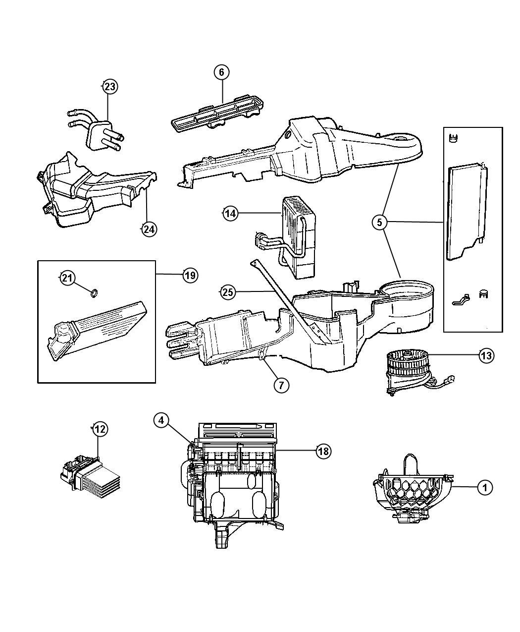 2004 Chrysler Pacifica Seal kit. Used for: a/c and heater