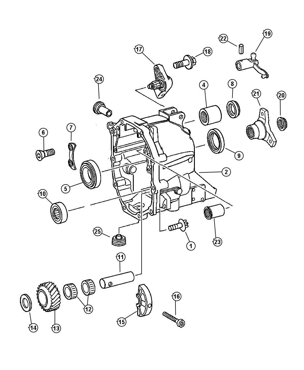 2004 Chrysler Crossfire Lever. Shift shaft. Related, rear