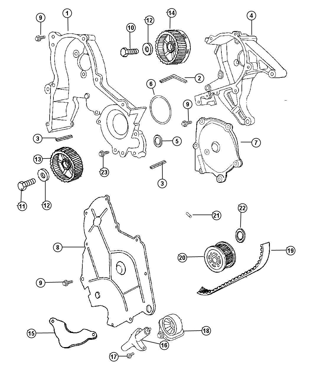 Chrysler Concorde Tensioner Arm Pivot Mouting
