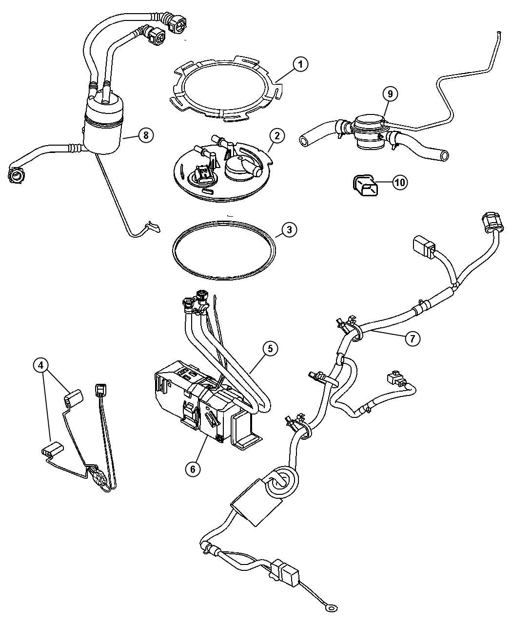 Jeep Wrangler Seal Used For Fuel Pump And Level Unit