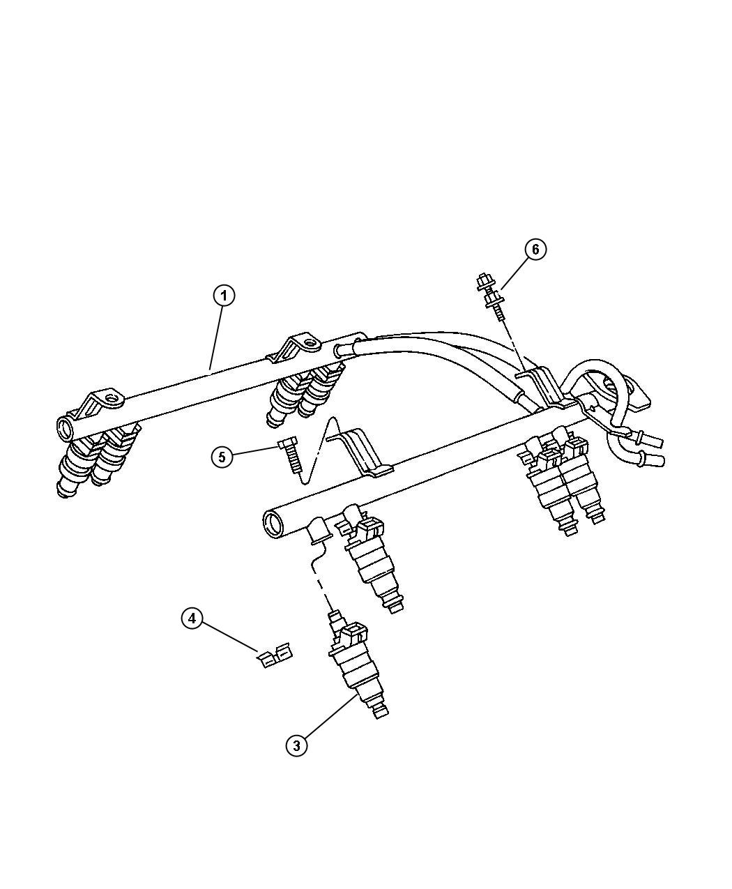 1992 Jeep Regulator. Fuel pressure. Axle, engine, rear