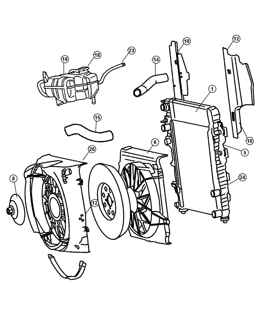 2011 Dodge Ram 3500 Isolator. Lower, upper. Radiator. Air