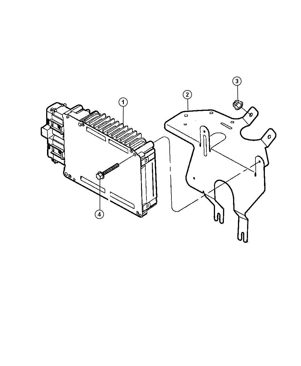 Dodge Intrepid Module Powertrain Control Remanufactured