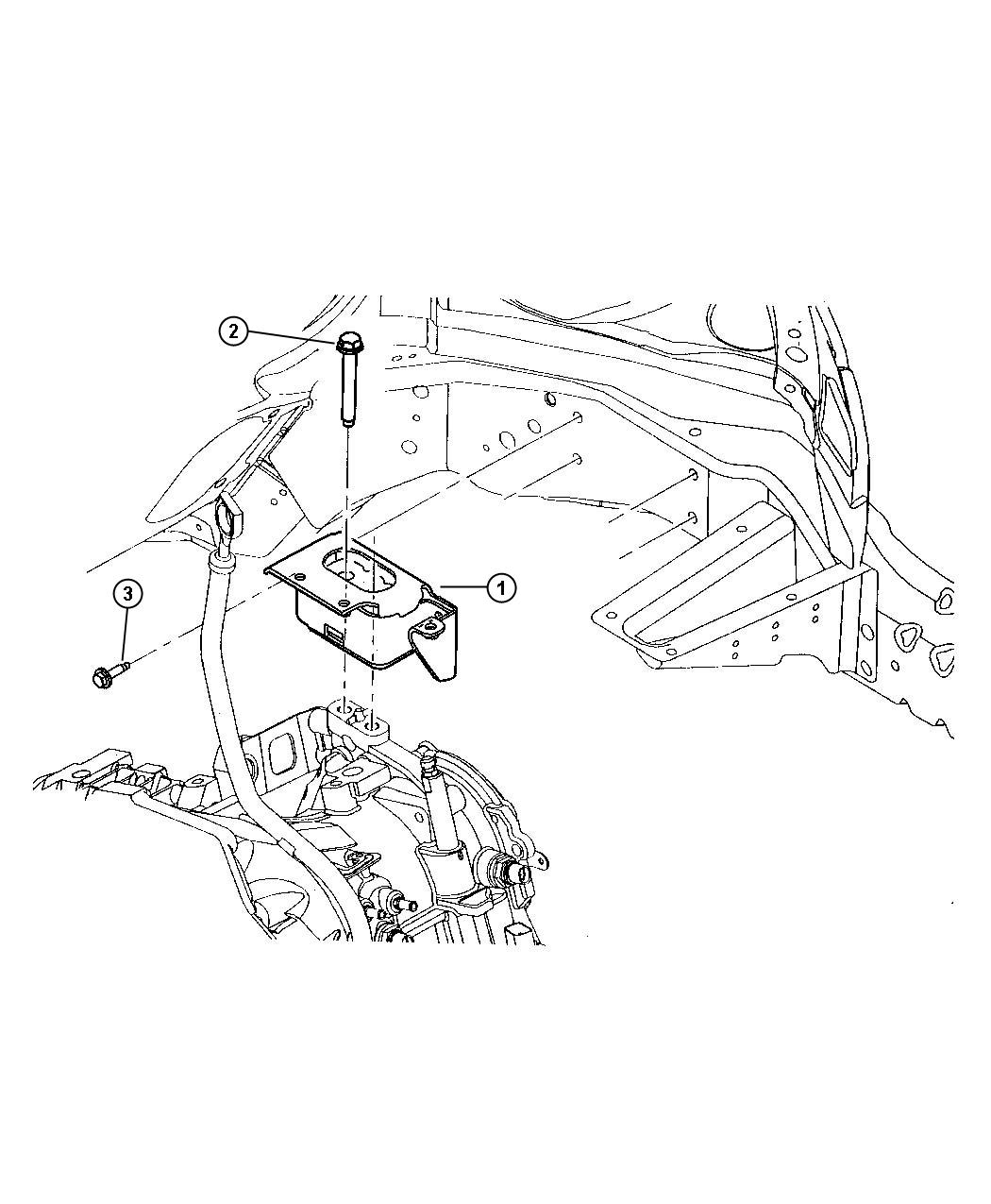 Chrysler Town & Country Support. Engine mount. Left. Body