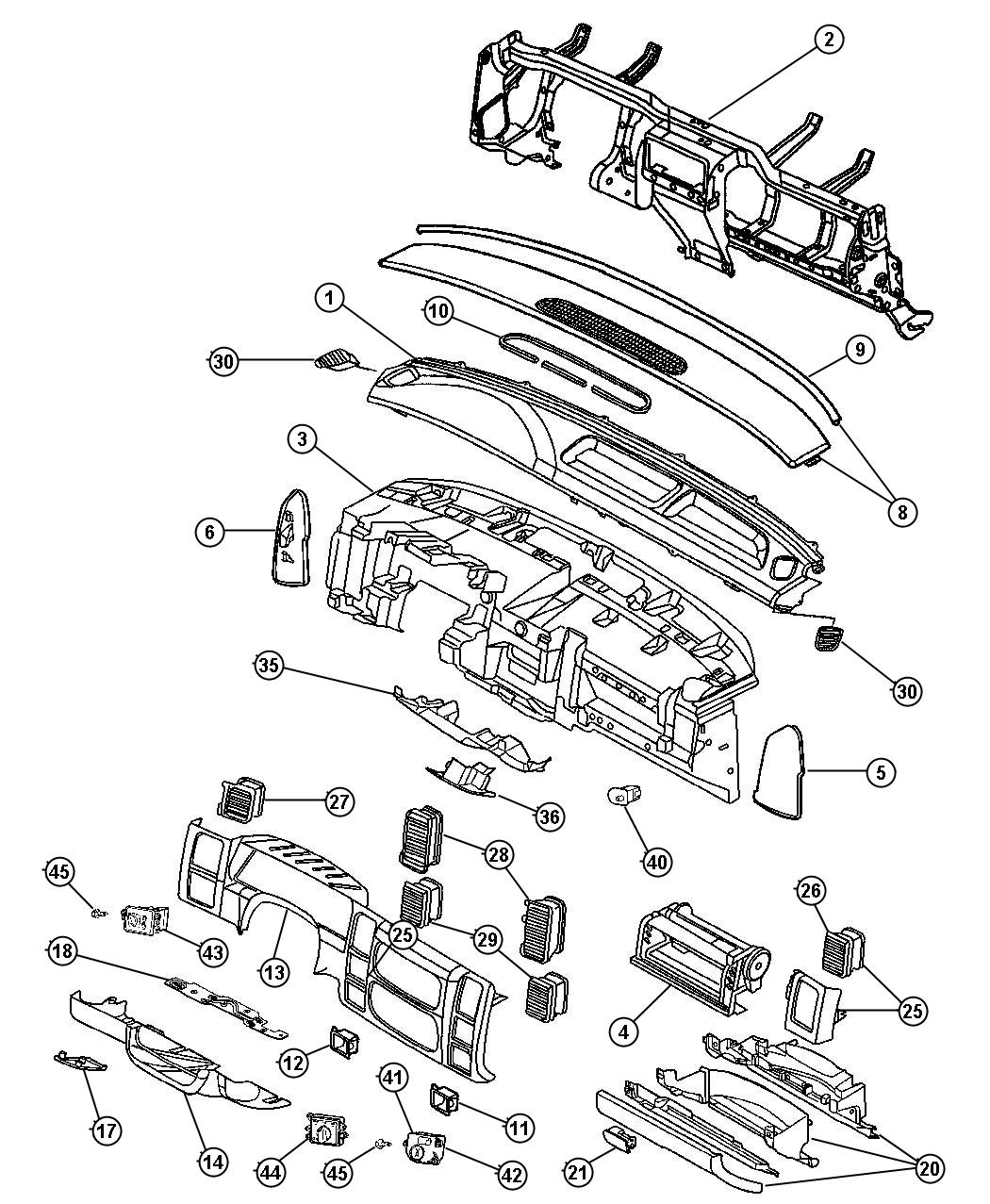 2003 Dodge Durango Handle. Parking brake. [l5]. Trim: (*o0
