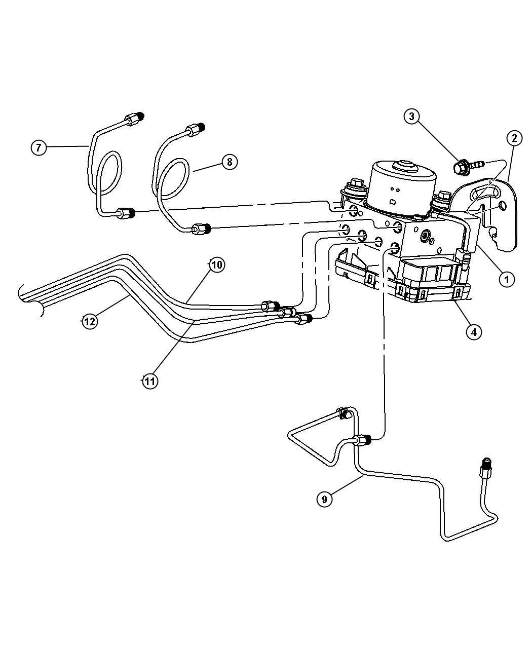 2009 Dodge Ram 2500 Bolt. Hydraulic control unit. Mounting