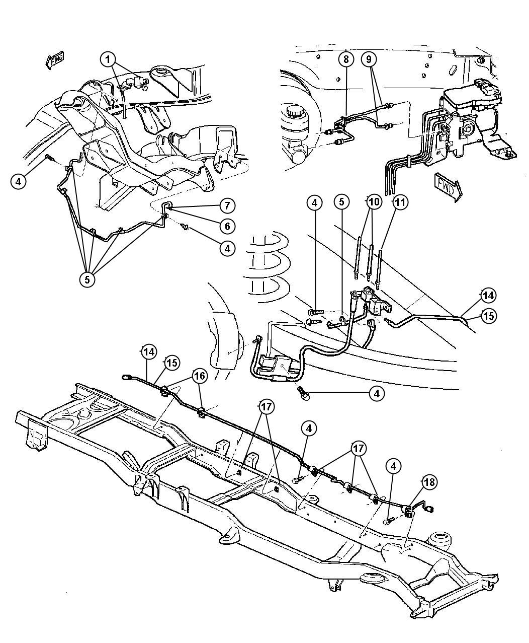 1998 Chrysler Sebring Tube. Brake. Primary, rear