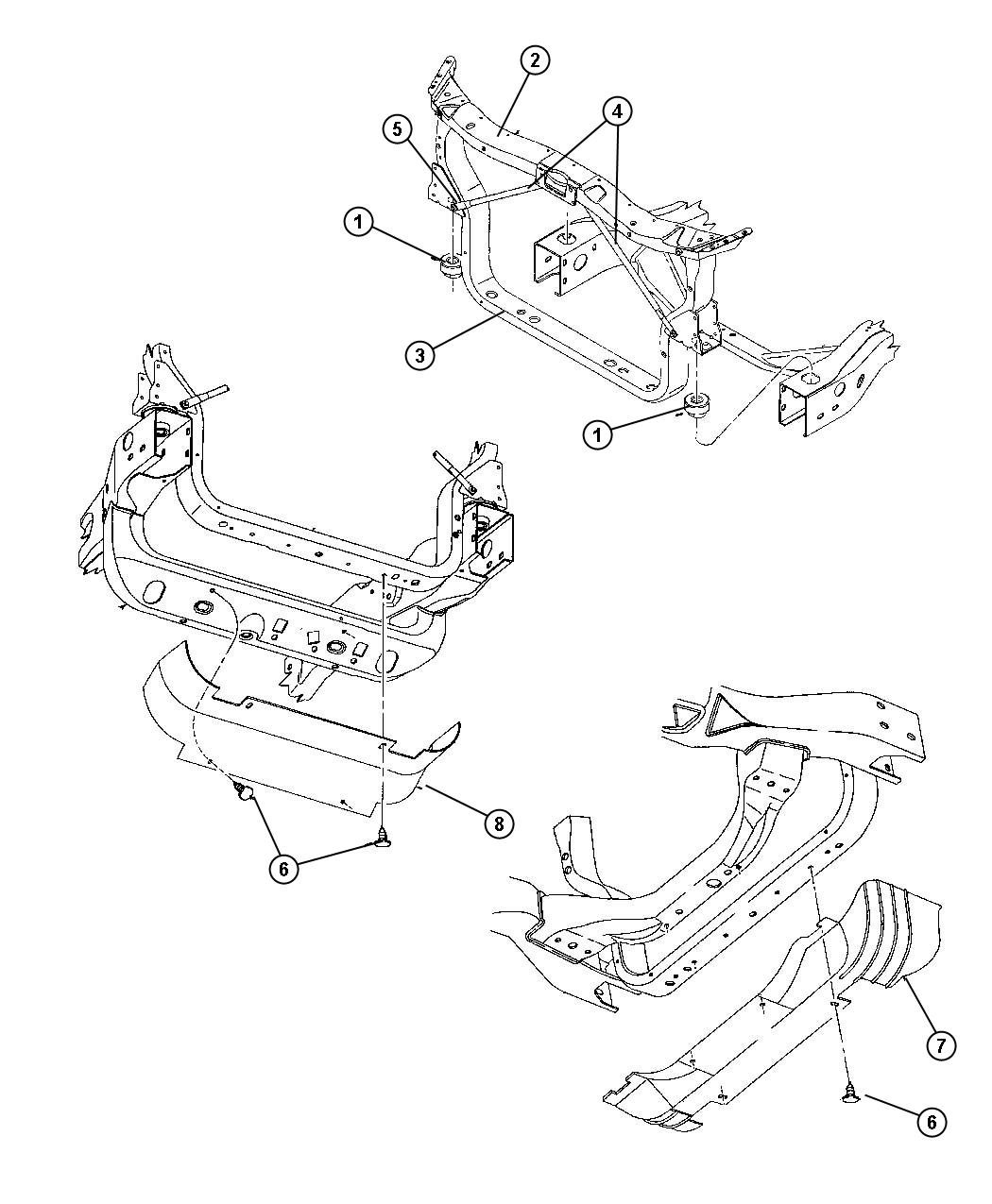 Dodge Dakota Closure Radiator Upper Related Mopar