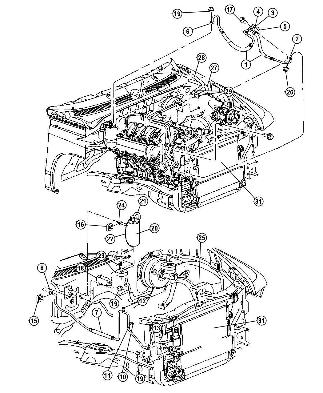 2004 Dodge Dakota Line. A/c liquid. Conditioning, air