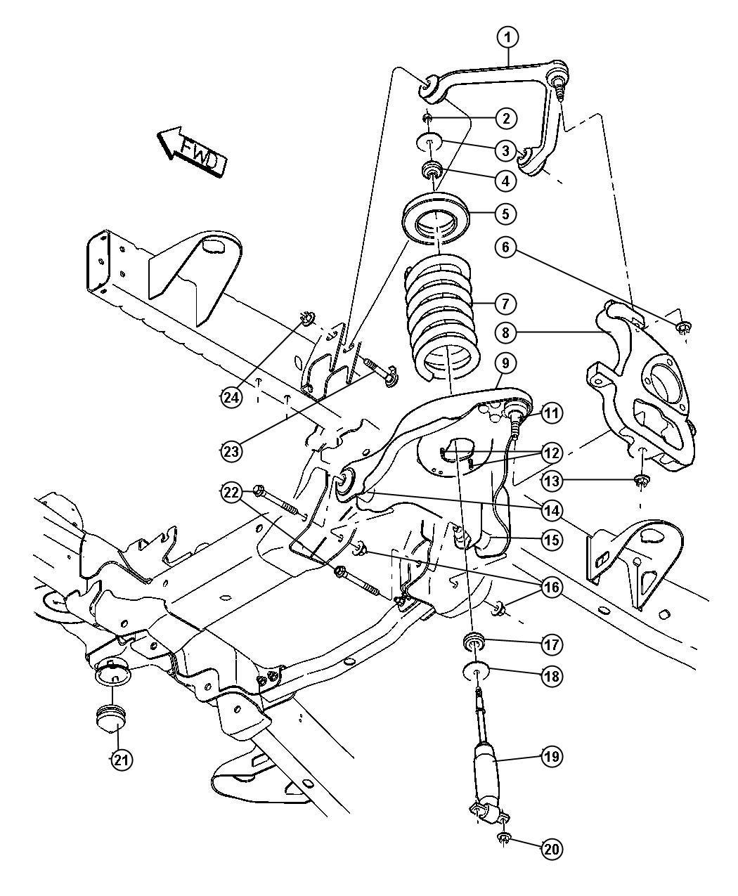 2004 Dodge Ram 3500 Bushing. Control arm. Lower, lower