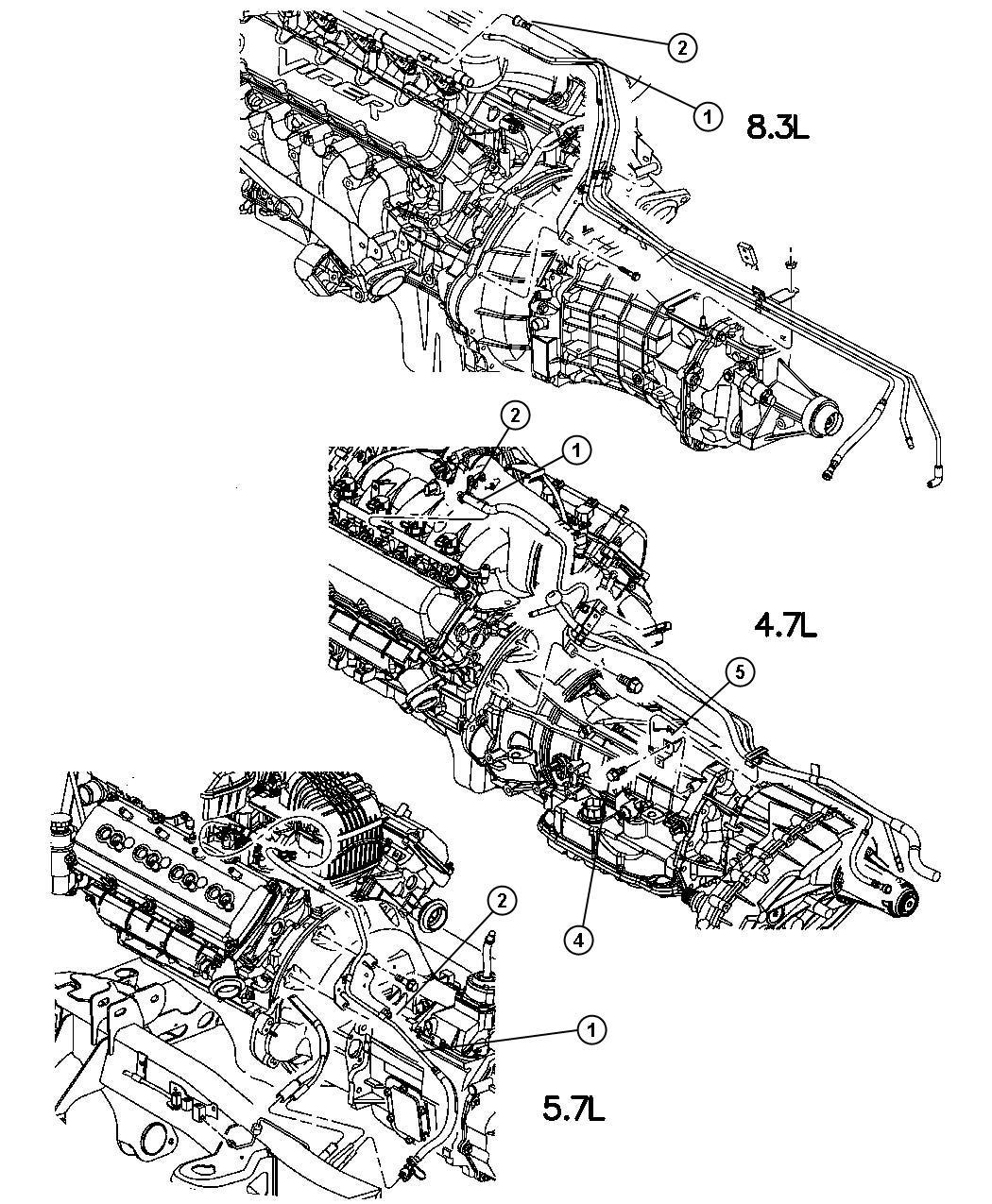 Dodge Ram Bundle Fuel Line Engine Lines Front
