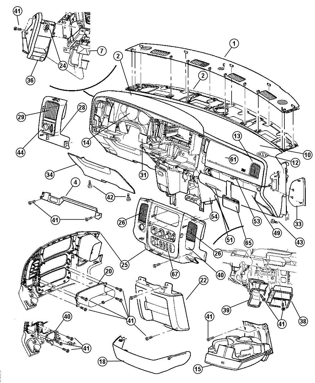 Dodge Ram 3500 Nut. Plastic snap-in. I/panel to retainer