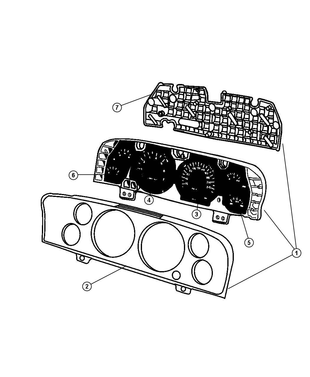 Dodge Ram 3500 Gauge. Trim: [all trim codes]. Instrument