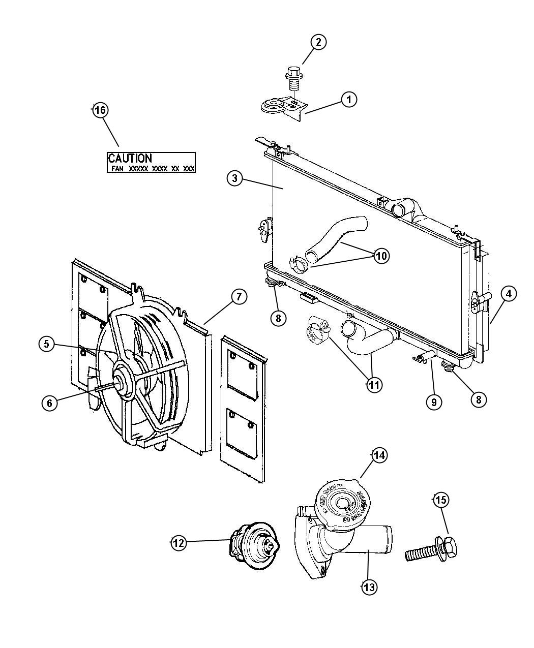 Chrysler Town Amp Country Connector Fitting Water Outlet