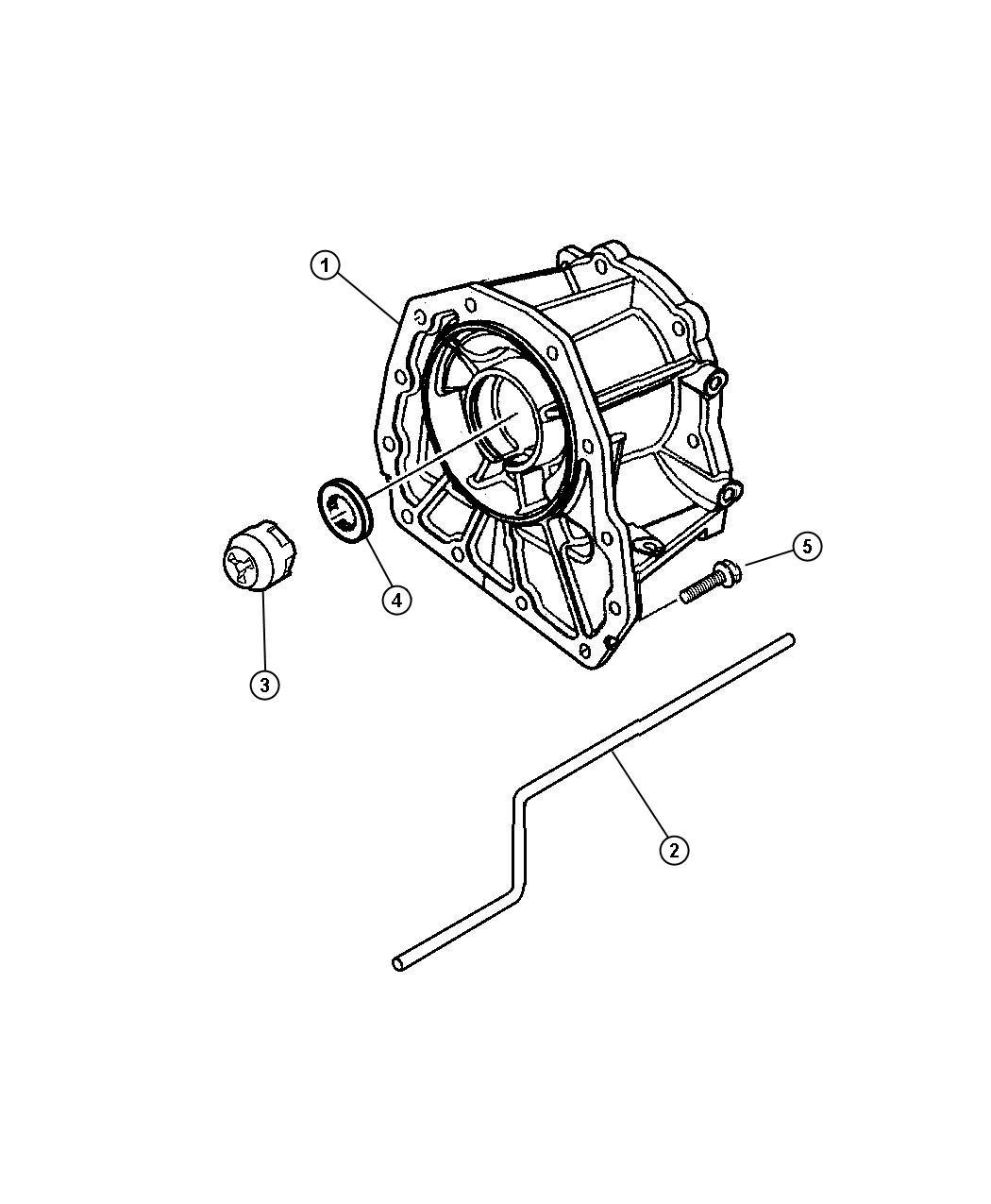 Dodge Dakota Adapter Transfer Case Transmission Spd