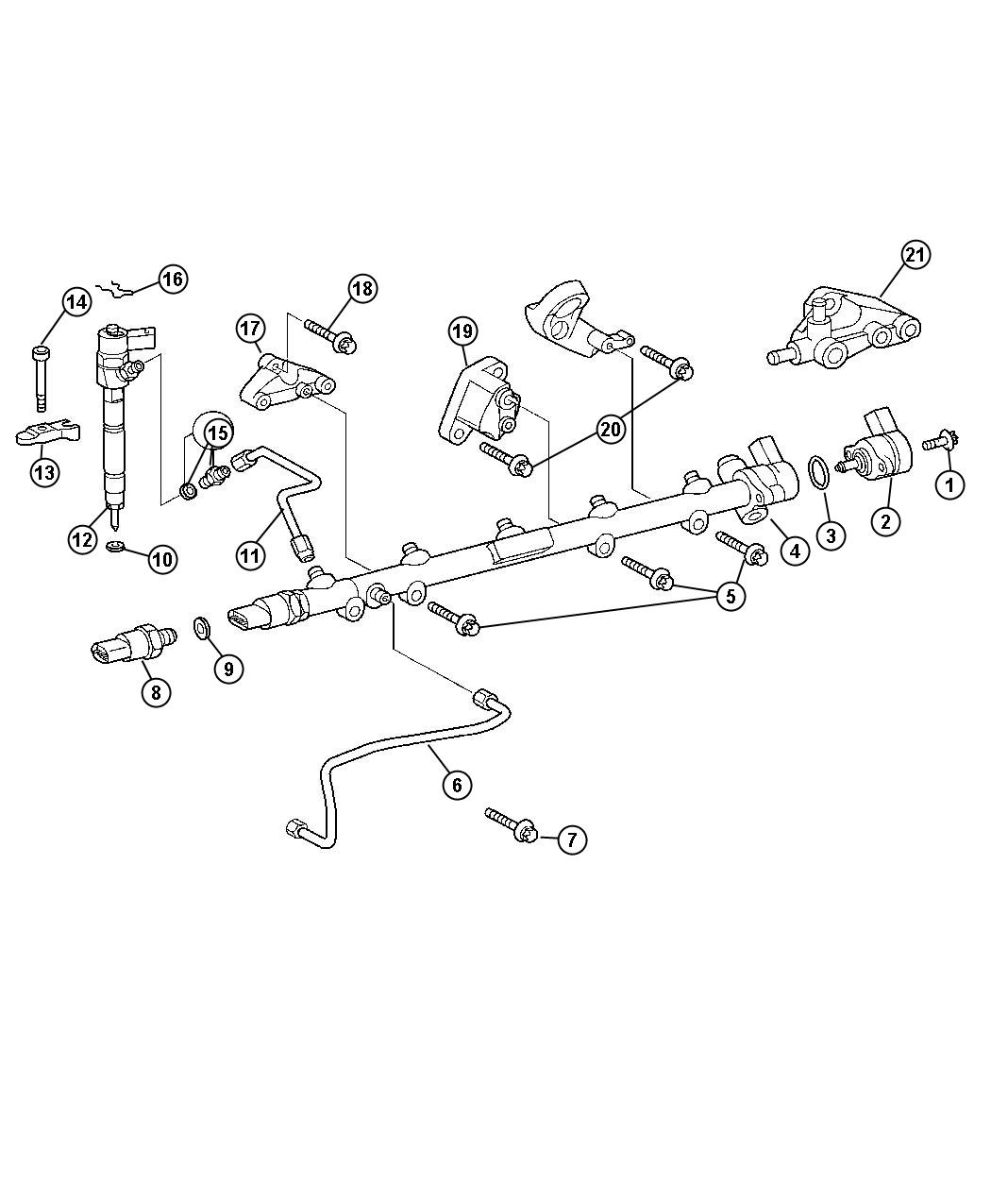 Dodge Sprinter Clamp Clip Fuel Injector Lines Related