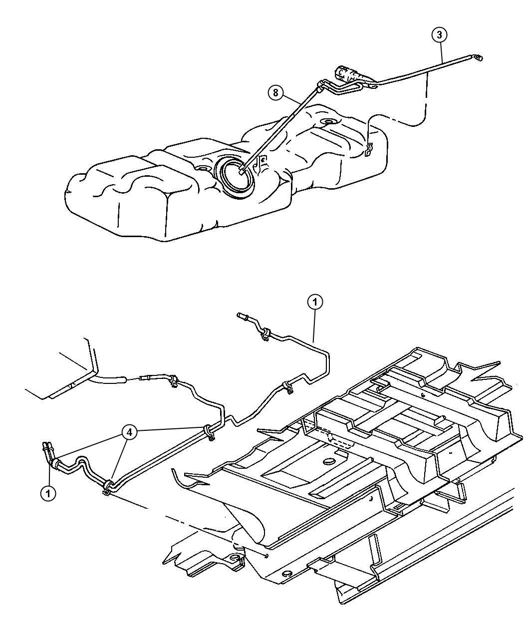 Dodge Ram Tube Fuel Supply Line Off Fuel Rail