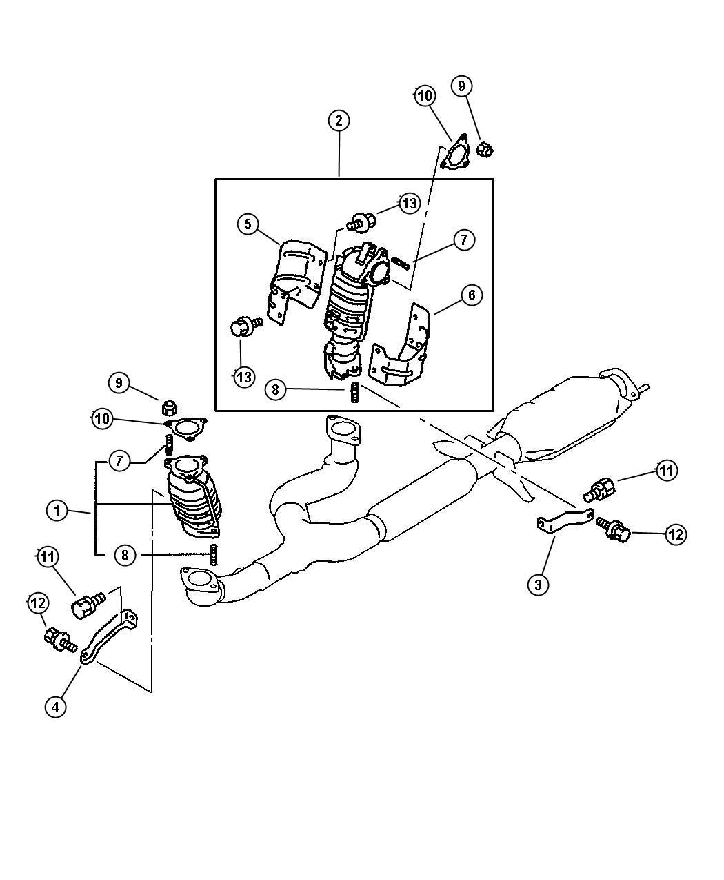 Chrysler Sebring Bolt Catalytic Converter Washer