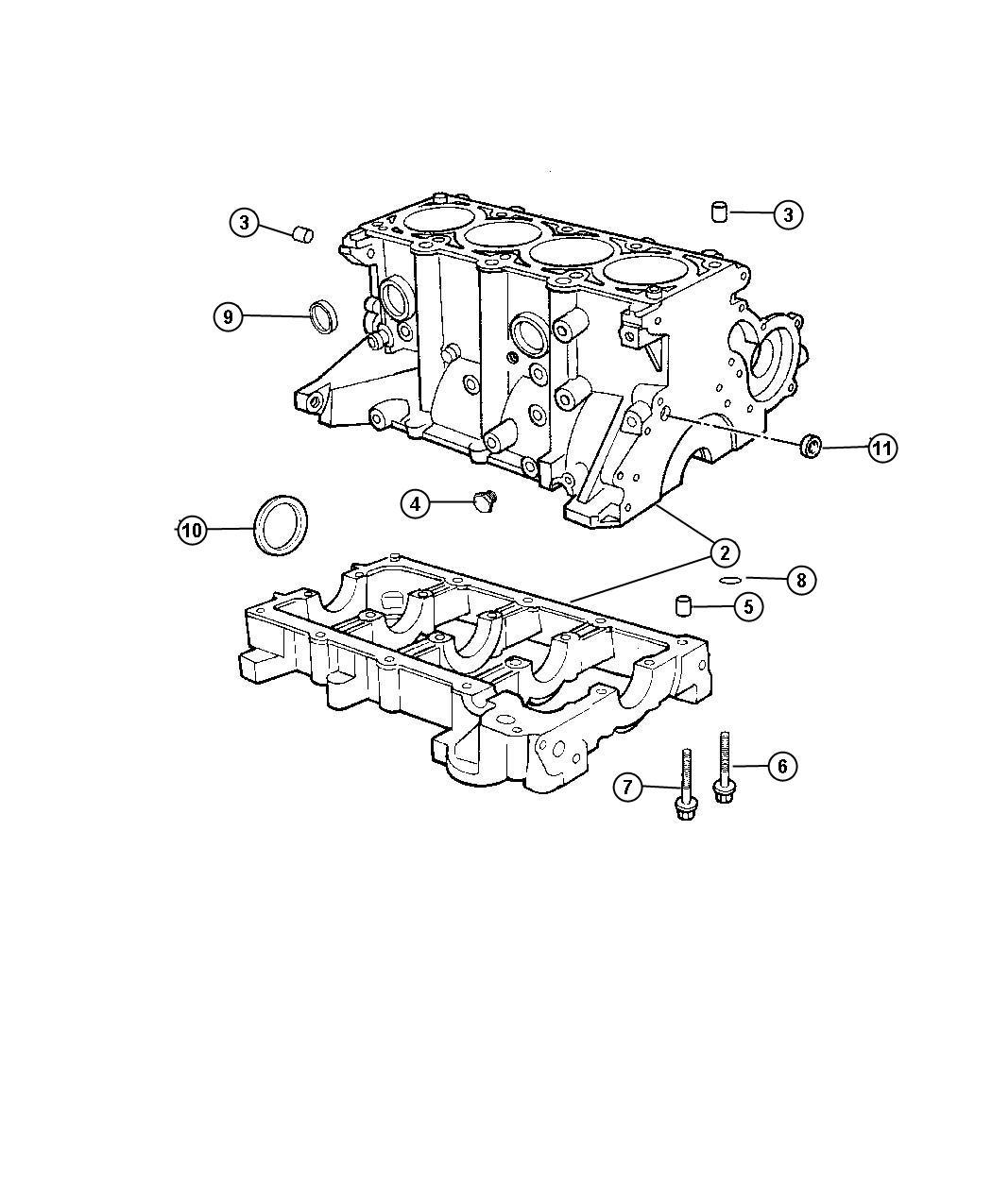 Dodge Ram Block Short Sohc Engine Cyl