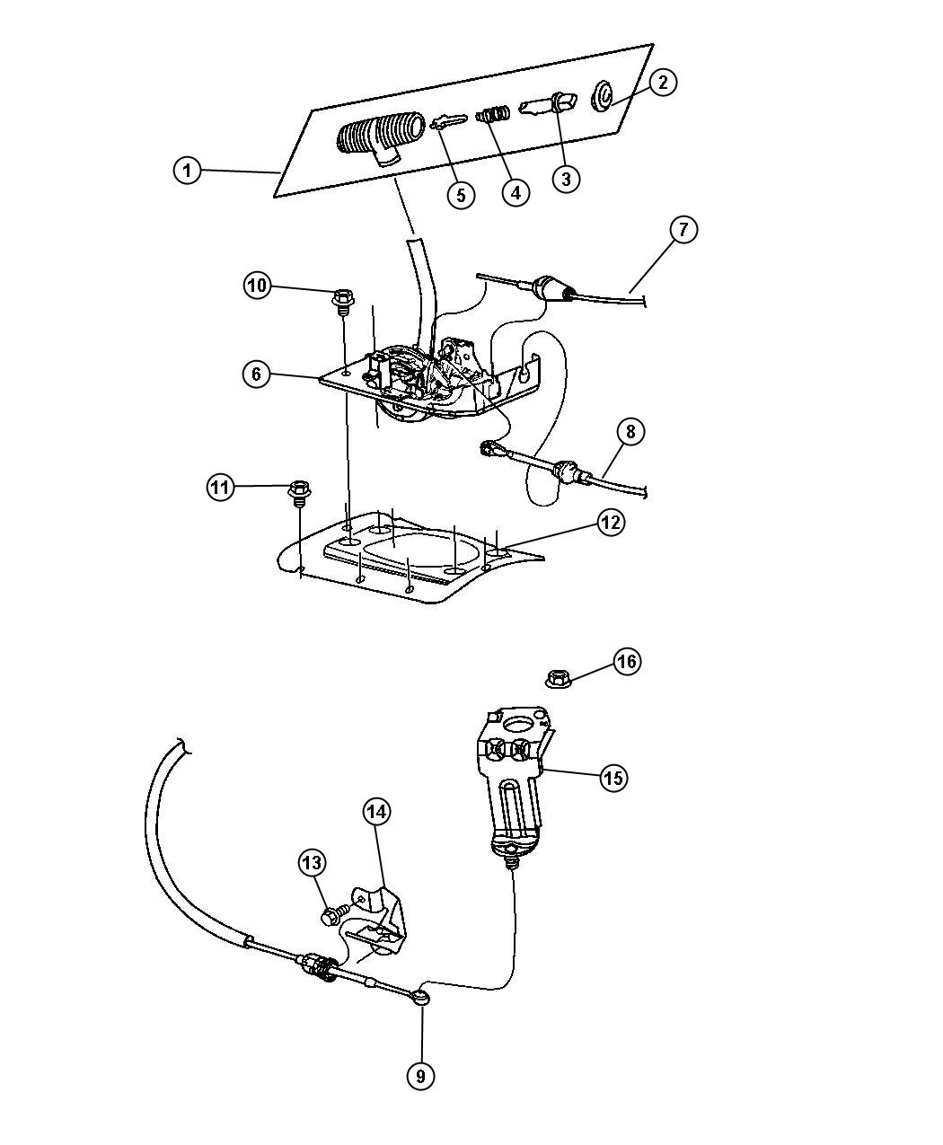 Jeep Wrangler Housing Shift Lever Mopar Gearshift