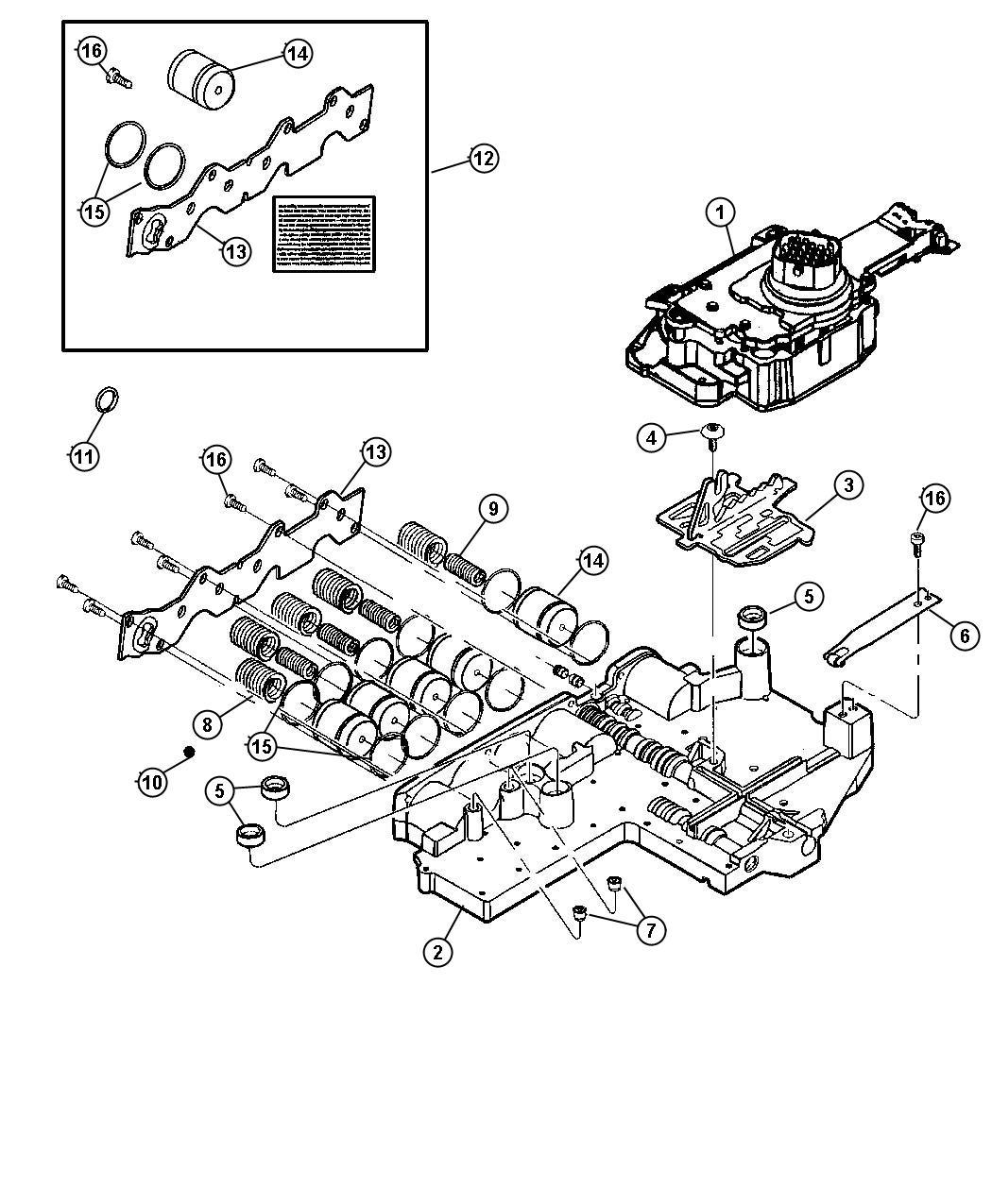Dodge Durango Vbody pkg. Transmission, valve, spd